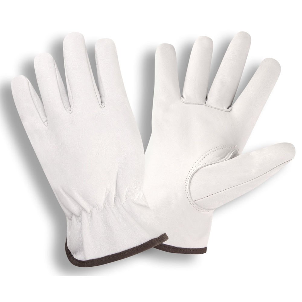 Cordova 8500 Premium Grain Goatskin Drivers Gloves, Keystone Thumb, Color Coded Cuff, Size: Large, Pack of 12 Pair
