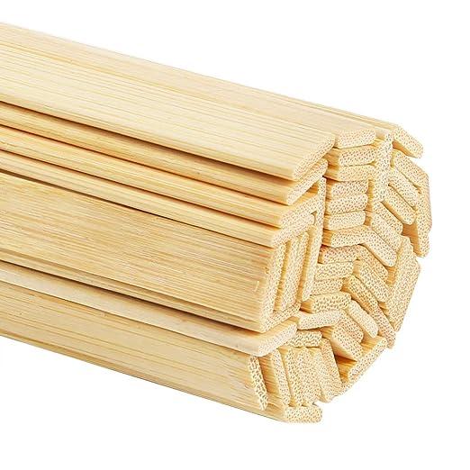 Pllieay - 60 palos de bambú natural para manualidades (39 cm de ...
