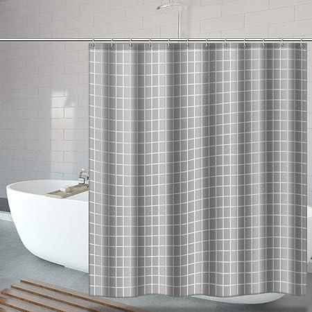 UTAKE Duschvorh/äng 180 * 180 Duschvorh/änge aus Polyester Wasserabweisend Shower Curtain mit 12 Duschvorhangringen