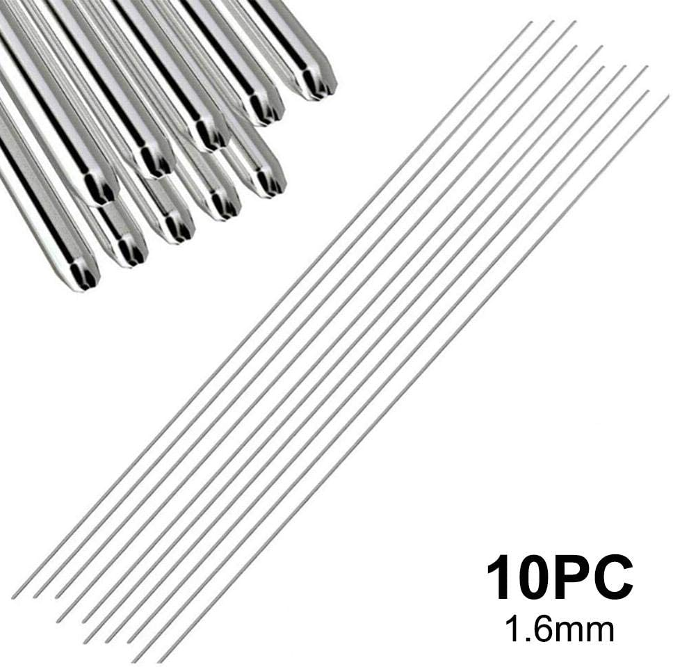 isilky Aluminum Welding Rods 12.99In0.06//0.08In Food Linkhood 100-Pack Universal Low Temperature Aluminum Welding Cored Wire for Electric Power Silver Chemistry