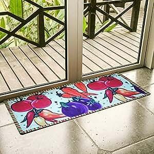Fadfay fruit kitchen rugs 20 39 39 48 39 39 kitchen rubber mats kitchen dining for Kitchen rugs with fruit design