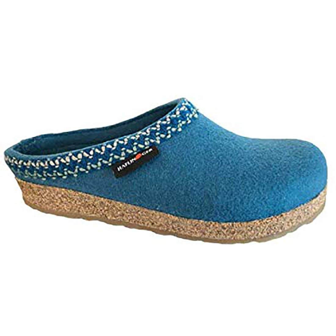 HAFLINGER Grizzly Zig Zag Women's Peacock Mule Clog - 36