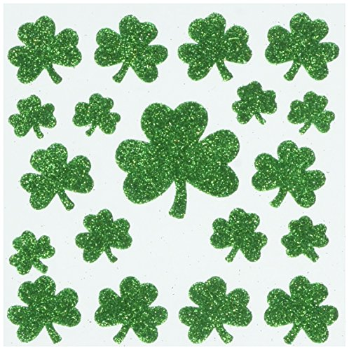 (Darice Glitter Foam Stickers, Shamrocks, 44)