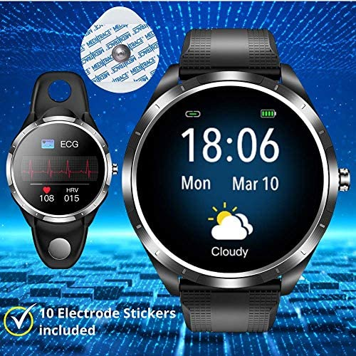 SPOREX EG4 Health Focused Smart Watch, Heart Rate & Blood Pressure Monitor, Fitness Tracker, Blood Oxygen Meter; Smartwatch for Android phones and iPhone Compatible; HD Touch Screen, Waterproof; Sport 2