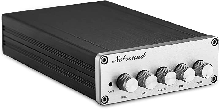 Nobsound Hifi Tpa3116d2 2 1 Channel Digital Audio Power Amplifier Stereo Amp 2 50w 100w Subwoofer Treble Bass Independent Adjustment Home Audio Theater Amazon Com