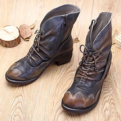 3f54f072a393f Stivali Donne Stringati Piatto Neve Stivaletto Peluche Boots All aperto  Inverno Stivaletti Antiscivolo Scarpe Scarponi Caldo ...
