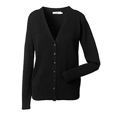a6f59b6b3b5 Russell Collection Ladies/Womens V-Neck Knitted Cardigan