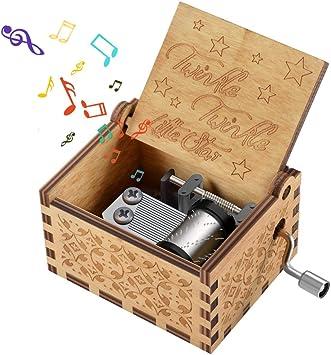 CITOY Juguete de Caja de música de Madera para niños pequeños, Regalos de música Grabados para niñas de 2 a 8 años Regalos de cumpleaños para niños y niñas Regalos para niños