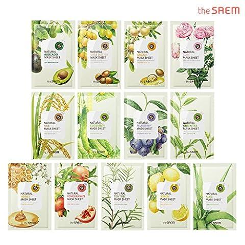 [the SAEM] Natural Facial Mask Sheet 21ml x 13 Sheets - Face Sheet