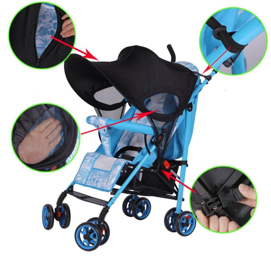 JPOQW UPF 50+ Adjustable Baby Stroller Sun Shade Sun Visor (Black) by JPOQW (Image #3)