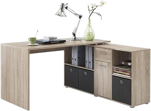 Mesa de escritorio en esquina Incluye Aparador Armario escritorio ...