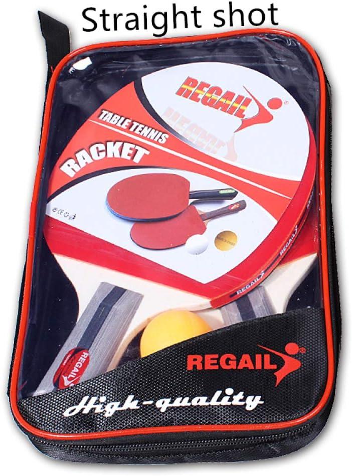 UMBRANDED Juego de Bate y Pelota de Tenis de Mesa, Raquetas de Ping Pong y Pelotas de Ping Pong con Bolsas de Transporte, 2 paletas y 3 Bolas (apretones de Manos)