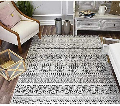 Sebring Paloma High Low Area Rug Vintage Abstract Design 5×7