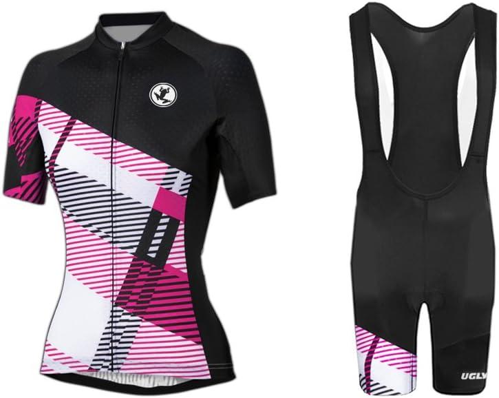 Biciclette ,Bib Shorts Body Sets Uglyfrog Designs Donna Maglie da Ciclismo Manica Corta Maniche Traspiranti Maglie da Ciclismo Tops Biciclette per Bici Motociclisti