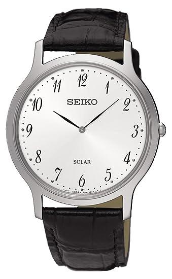 Seiko Reloj Analogico para Hombre de Energía Solar con Correa en Cuero SUP863P1