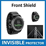 Garmin Fenix 3 Sapphire HR GPS Watch Front INVISIBLE Screen Protector (Front Shield Included) - Military Grade Protection Exclusive to ACE CASE (Sapphire HR)