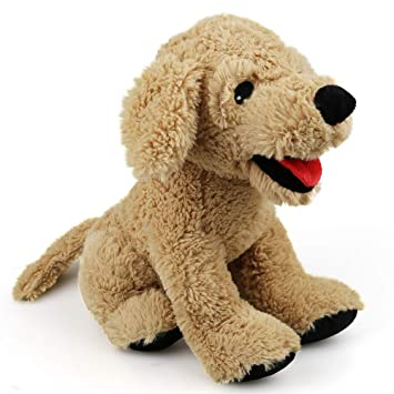 Amazon Com Lotfancy Puppy Stuffed Animals Soft Cuddly Golden