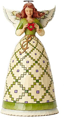 Jim Shore for Enesco Heartwood Creek Irish Angel with Claddagh Figurine, 9.5-Inch