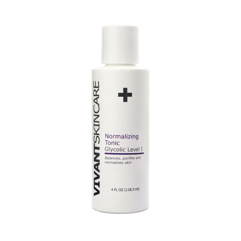Vivant Skin Care Normalizing Tonic - Lactic Acid, Glycolic Acid and Witch Hazel. A Gentle, Balancing Toner - 4 Fluid Ounce