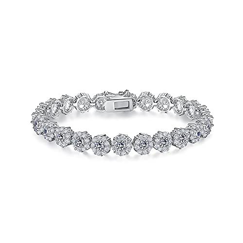 4c1f974f647 Everrich AAA Cubic Zirconia Stones Rose Gold Plated Tennis Bracelets  Diamond Bangle Jewelry for Mothers Day