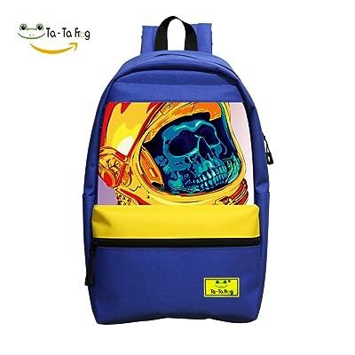 Space Skull Student Backpack School Bag Fashion Customized Super Bookbag Break