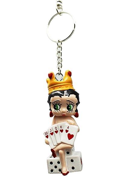 Amazon.com: Betty Boop - Llavero pequeño de piel con parte ...