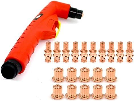21pc A81 Plamsa Torch Head Body PF0140 Electrode PR0109 Tips PD0105 for Trafimet