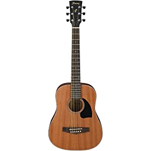 Ibanez PF2MHOPN 3/4 Mini Dreadnought Acoustic Guitar Open Pore Natural - Best Guitar for Kids