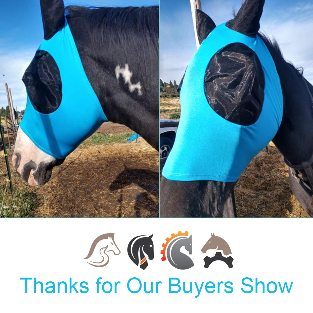 QYSshop Horse Fly Mask with Ears Fine Mesh by QYSshop