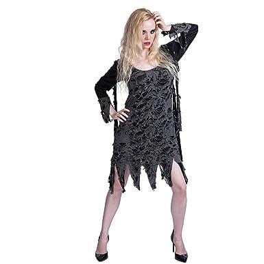 645ebb56638c4d EraSpooky Damen Zombie Kostüm Loch Kleid für Karneval Halloween ...