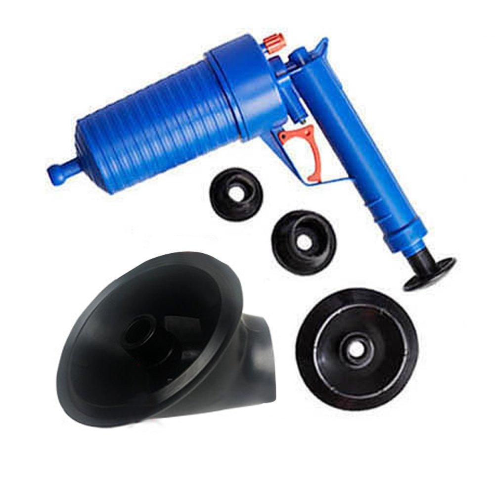 エアプレッシャー 排水ポンプ パイプドレッジツール エアパワー 排水ブラスター 高圧排水口 トイレ トイレ トイレ トイレ トイレ 浴槽 シンク 吸引器4本付き #81422   B07BQQ5JL5