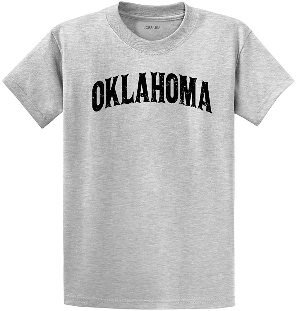 0d3addfe0cb Joe's USA Vintage States T-Shirts-Regular Big and Tall-3XL-Ash-Oklahoma at  Amazon Men's Clothing store: