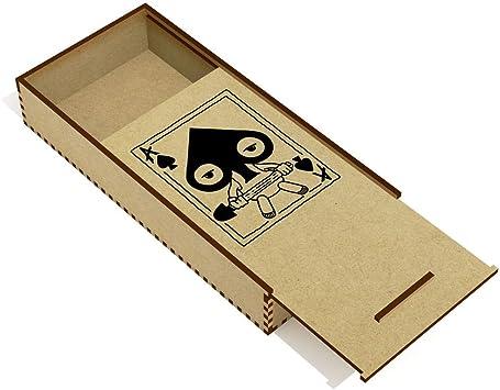 Azeeda As de Espadas Estuche de lápices de Madera (PC00001817): Amazon.es: Juguetes y juegos