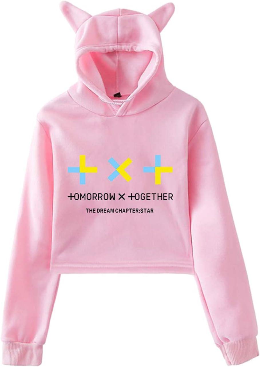 Xkpopfans Kpop TXT Hoodie Tomorrow X Together Support Sweatshirt Soobin Beomgyu Kai Pullover