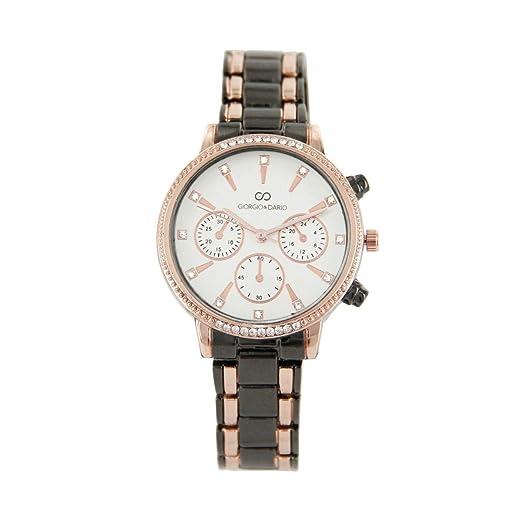 Très Jolie Reloj Mujer Bicolor Brillantes Giorgio 895 ...