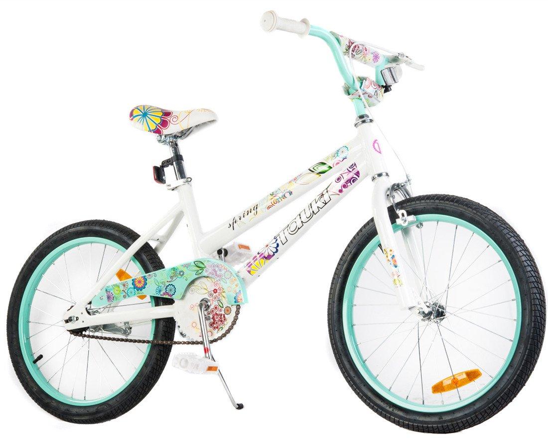 Tauki 20 Inch Girl Bike Kid Bike for Girls, Green, 95% assembled, for 8-14 Years Old by Tauki