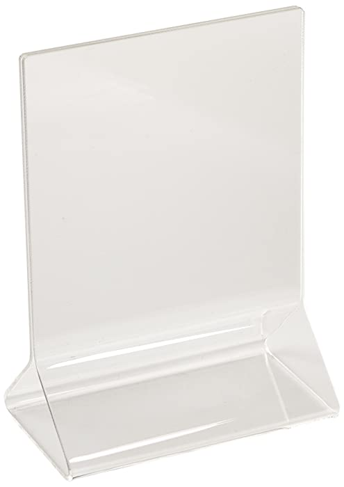 New Star Foodservice 22919 Acrylic Table Menu Card Holder, 3.5 by 5-Inch, Clear, Set of 12