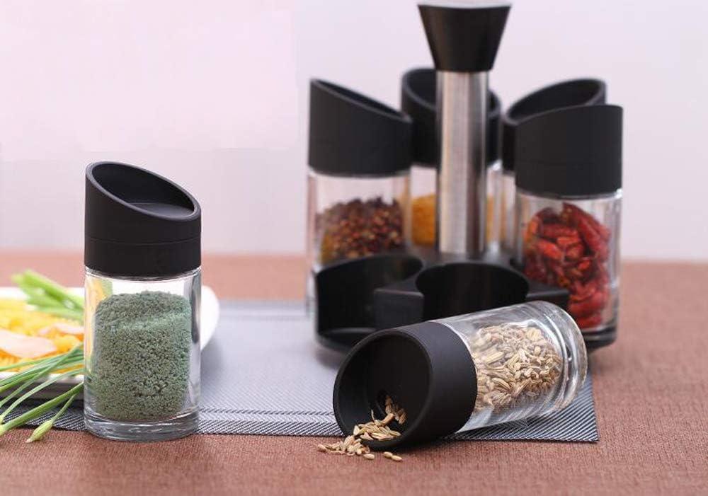 xiaoshenlu Giratorio encimera Carrusel Rack con 8 Tarro de Cristal para Especias y Hierbas Botellas
