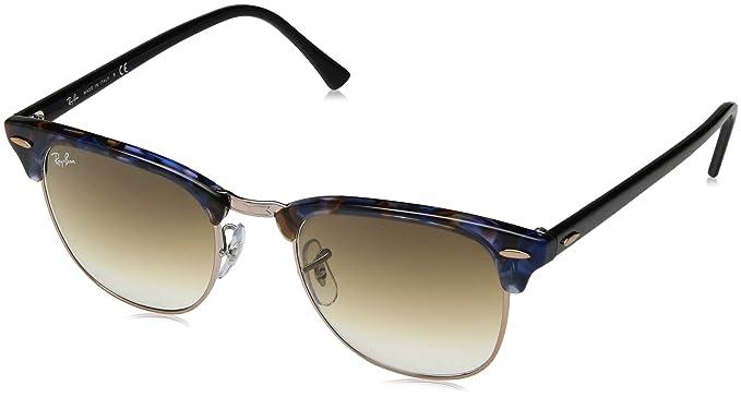 9bc49a07307 Amazon.com  Ray-Ban Men s Clubmaster Square Sunglasses SPOTTED BROWN ...