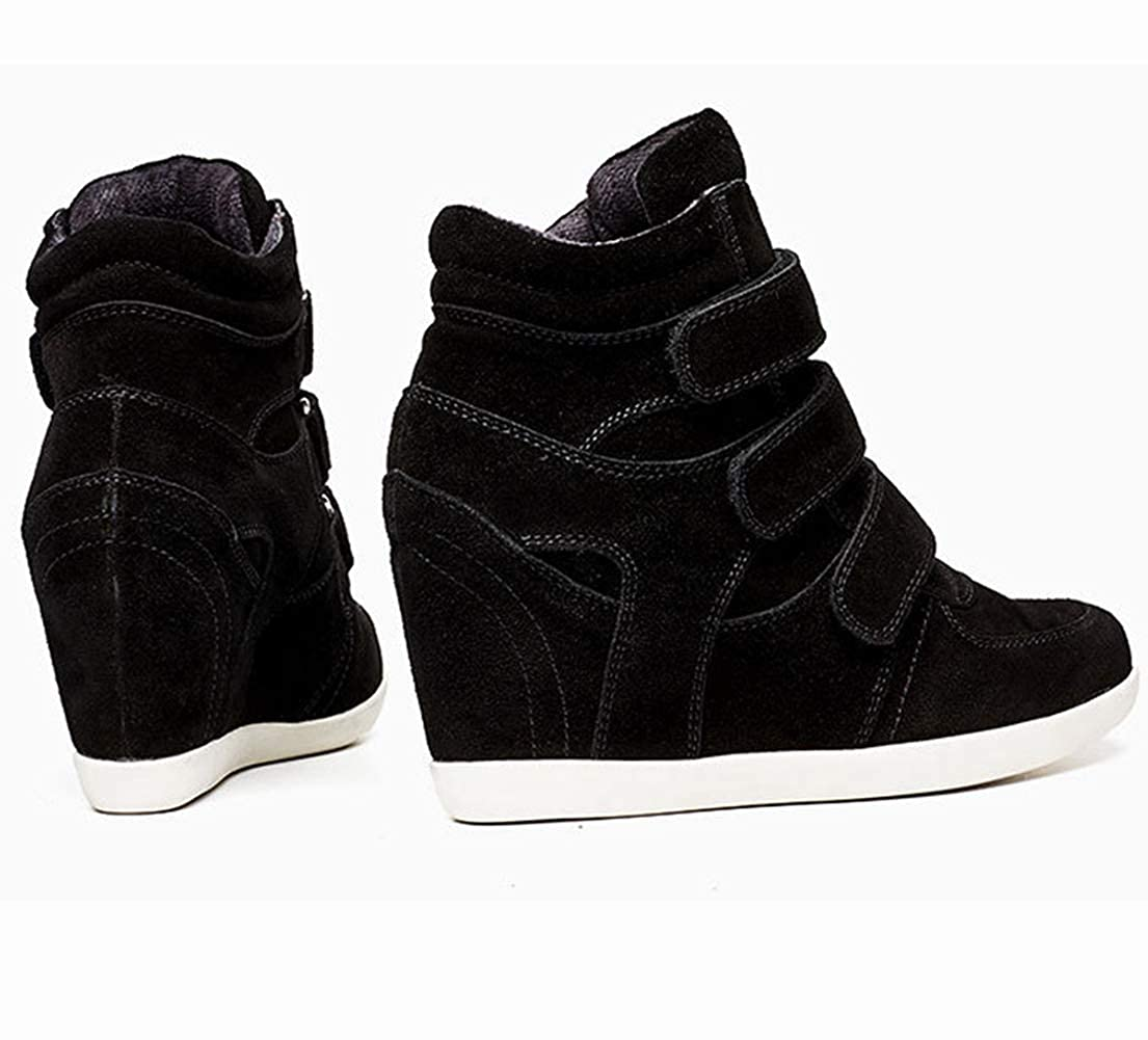 best service 4bfb2 d835f ... U-MAC High Top Wedge Sneakers for for for Women s - Anti-Slip Rubber