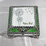 Dandylion Make a Wish 5X5 SILVER Jewelry Box
