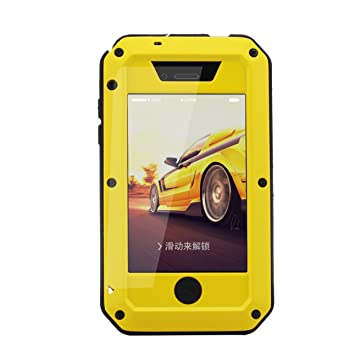 R-JUST iPhone 4S Caso, iPhone 4S Metal Caso, de Cuerpo ...