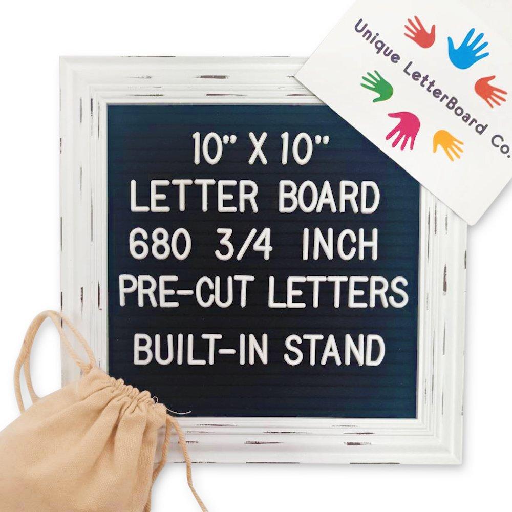 Rustic Felt Letterboard (Black Felt, 10x10) Unique LetterBoard Co.