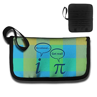 Get Real Be Rational Pi Funny Math Travel Wallet Passport Holder Document Organizer