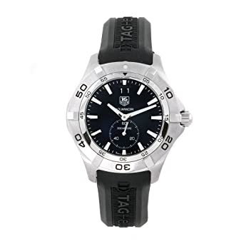 0e56cd89fdd10 Image Unavailable. Image not available for. Color  TAG Heuer Men s  WAF1014.FT8010 Aquaracer Swiss Automatic Chronograph Black Dial Watch