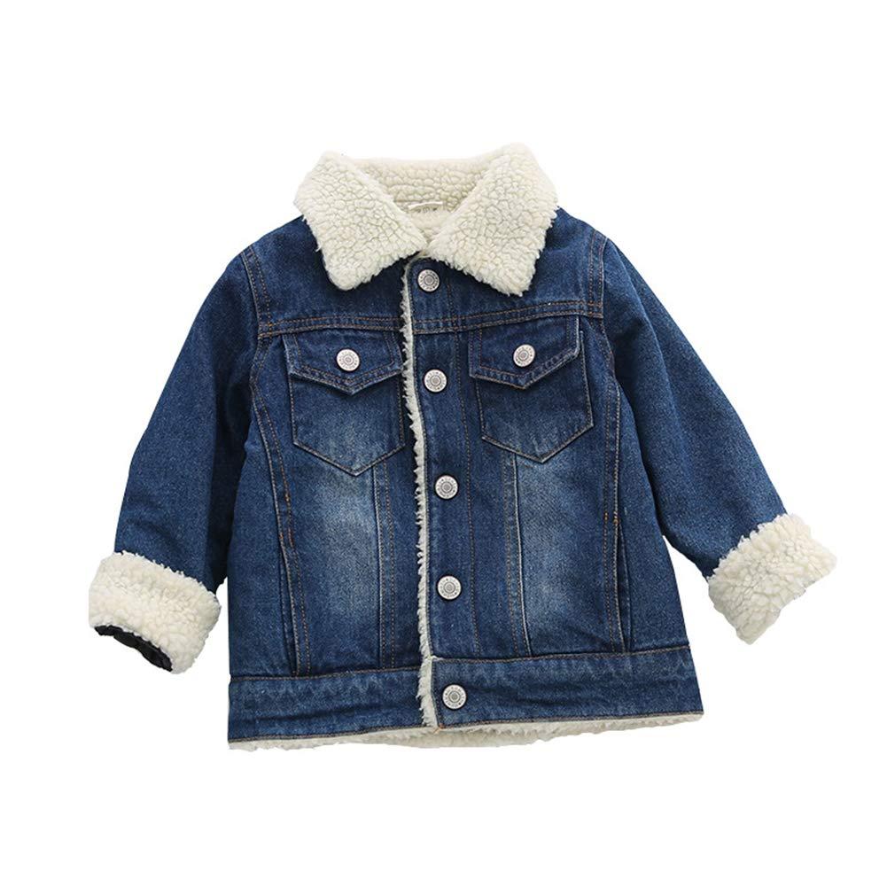 Fairy Baby Unisex Coat Denim Fleece Jacket Winter Snowsuit