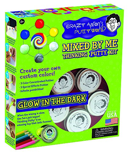 Crazy Aaron's Thinking Putty, Mixed by Me Thinking Putty Kit, Glow in the Dark