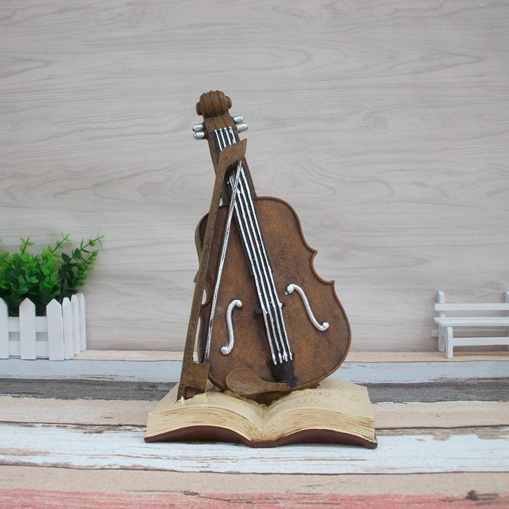 BWLZSP 1PCS Creative retro violin book ornaments Home decorating shop window showcase AP5091613 (Color : Red)