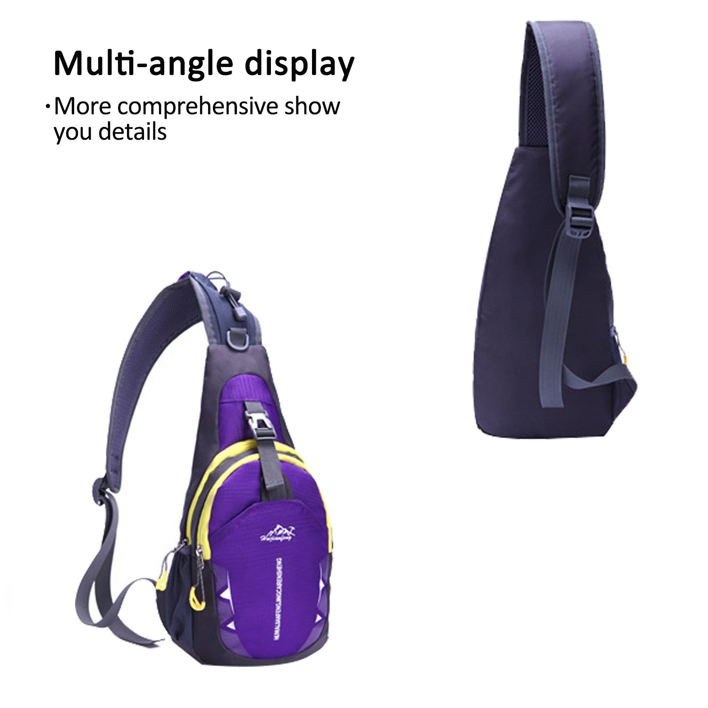 FANDARE Sling Bag Shoulder Backpack Crossbody Bag Hiking Men//Women Polyester BK-JU004