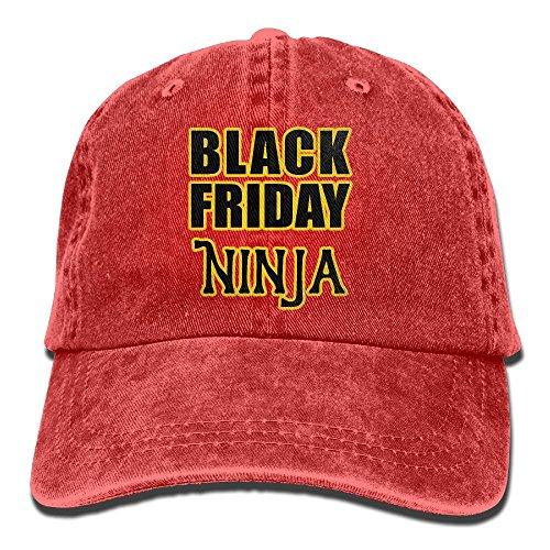 Urban Ninja Costume (Men Women Black Friday Ninja Text Yarn-Dyed Denim Adjustable Hip Hop Caps)